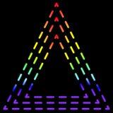 Ligne tirée consistante de triangle d'arc-en-ciel, noir d'isolement Illustration Libre de Droits