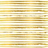Ligne tirée par la main de modèle sans couture à l'arrière-plan d'or de couleur pour des invitations et des cartes de voeux Photographie stock libre de droits