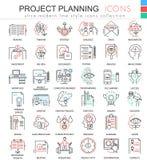 Ligne ultra moderne icônes d'ensemble de couleur de planification de projets de finances d'affaires de vecteur pour des apps et l Photo stock
