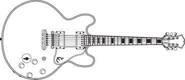 Ligne vecteur de guitare de bruit de musique Image libre de droits