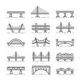 Ligne vecteur réglé de pont d'icône illustration de vecteur