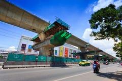 Ligne vert transit rapide de masse de Bangkok Photos stock