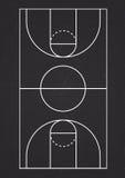 Ligne verticale vecteur de terrain de basket Images libres de droits