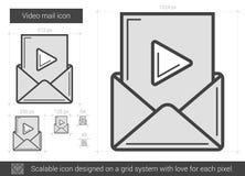 Ligne visuelle icône de courrier Photo libre de droits