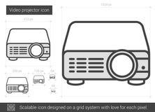 Ligne visuelle icône de projecteur Images stock