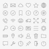 Ligne Web et ensemble d'icônes de design de l'interface d'utilisateur grand Photo libre de droits