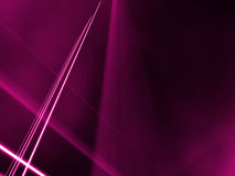 Lignes à angles par un brouillard rose Image libre de droits