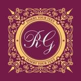 Lignes élégantes calligraphiques d'ornement de calibre de logo Signe pour le restaurant, redevance, bijoux, boutique, café, hôtel illustration de vecteur