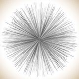 Lignes élément radiales Illustration géométrique abstraite rayonnement illustration stock