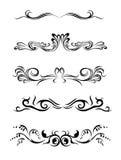 Lignes. Éléments de conception de différents types. Images stock