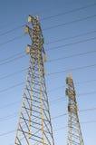 Lignes électriques à haute tension Image libre de droits