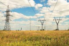 Lignes électriques électriques Photo stock