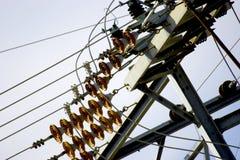 Lignes électriques Photo stock
