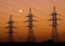 Lignes électriques Image stock