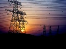 Lignes électriques Photos stock