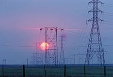 Lignes électriques Photo libre de droits