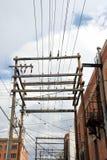 Lignes électriques Image libre de droits