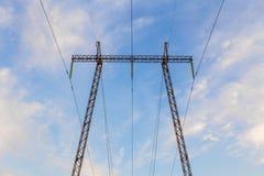 Lignes électriques Photos libres de droits