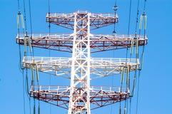 Lignes électriques d'incidence Images libres de droits