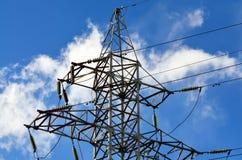 Lignes électriques de confiance Image libre de droits