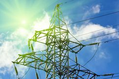 Lignes électriques de confiance Image stock