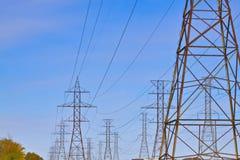 Lignes électriques hydrauliques Image libre de droits