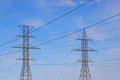 Lignes électriques hydrauliques Photo stock