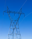 lignes électriques pouvoir Images libres de droits