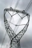 Lignes électriques sous le ciel Images stock