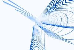 lignes 3d bleues Photo stock