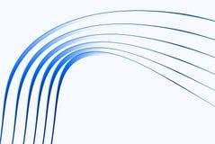 lignes 3d bleues molles Photographie stock libre de droits