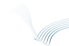 lignes 3d minces bleues Photographie stock libre de droits