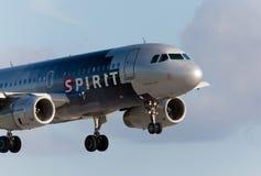 Lignes aériennes Airbus A320 d'un esprit Photographie stock