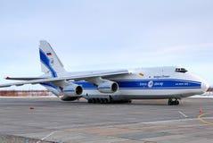Lignes aériennes Antonov An-124 Ruslan de Volga-Dniepr Images stock