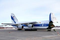 Lignes aériennes Antonov An-124 Ruslan de Volga-Dniepr Photographie stock libre de droits