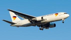 Lignes aériennes atlantiques occidentales de SE-RLA, Boeing 767-200F Photo libre de droits
