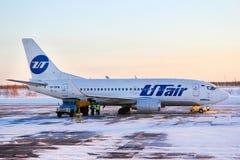 Lignes aériennes Boeing 737 d'UTair photographie stock libre de droits