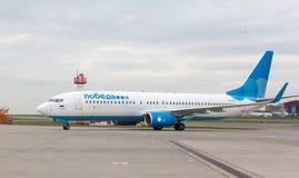 Lignes aériennes Boeing 737 de Pobeda Photographie stock libre de droits
