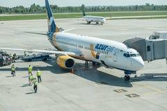Lignes aériennes d'air d'AZUR Images libres de droits