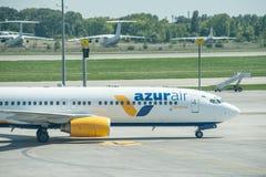 Lignes aériennes d'air d'AZUR Photo libre de droits