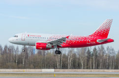 Lignes aériennes d'Airbus a319 Rossiya, aéroport Pulkovo, Russie St Petersburg en mai 2017 Photos stock