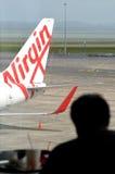 Lignes aériennes d'Australie de Vierge Photographie stock libre de droits