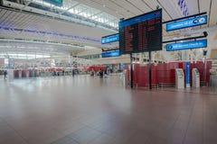 Lignes aériennes d'infos de vol de terminal d'aéroport Photos stock