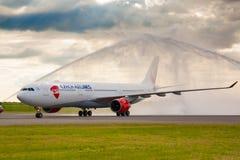 Lignes aériennes d'A330 Tchèque Photo libre de droits