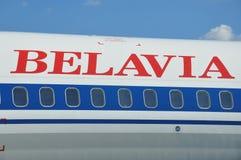 Lignes aériennes de Belavia Photographie stock libre de droits
