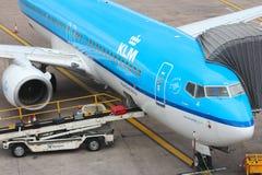 Lignes aériennes de KLM Photo libre de droits