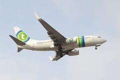 Lignes aériennes de Transavia Images stock