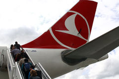 Lignes aériennes de Turkisk - PODGORICA, MONTÉNÉGRO Images stock