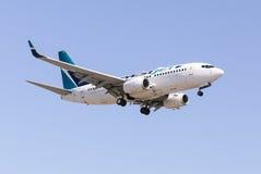 Lignes aériennes de Westjet Photo libre de droits