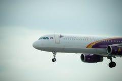 Lignes aériennes du Cambodge Angkor Images stock